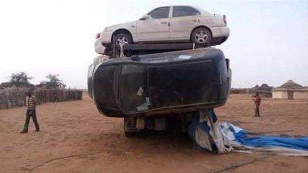 7 arabayı kamyona doldurdular! 1