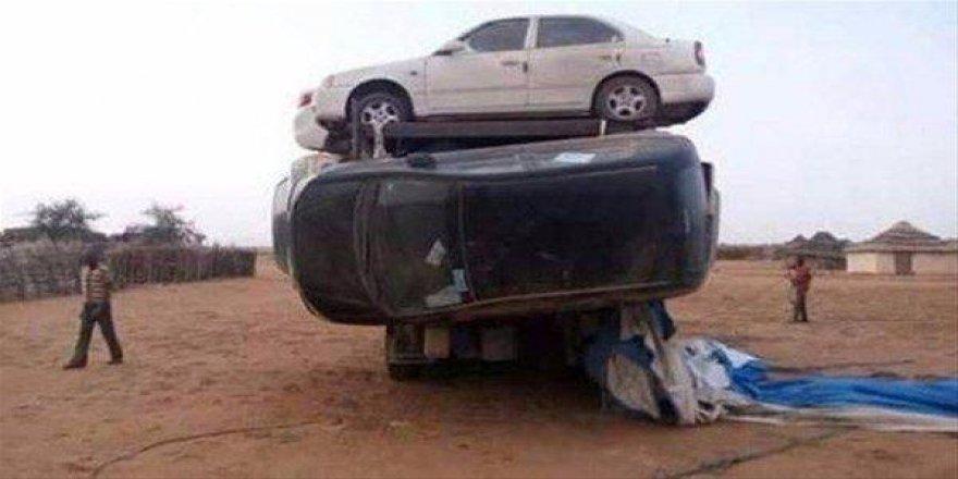 7 arabayı kamyona doldurdular!