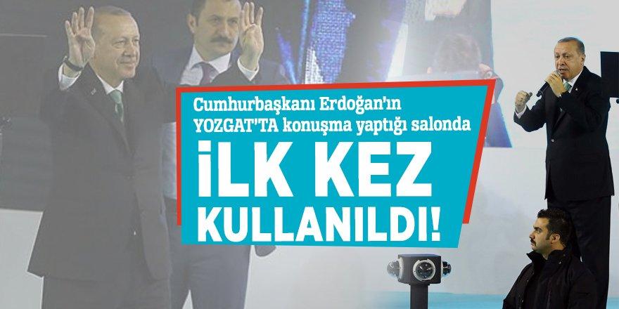 Yozgat'ta Erdoğan konuştuğu salonda ilk kez kullanıldı!