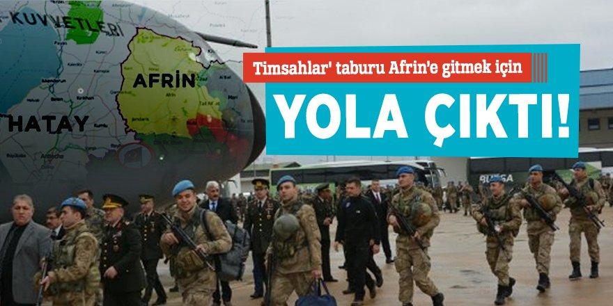 'Timsahlar' taburu Afrin'e gitti