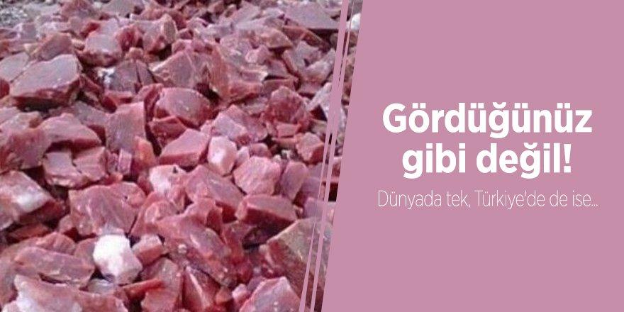 Dünyada tek, Türkiye'de ise...