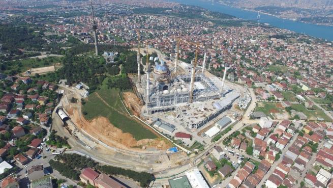 Çamlıca Cami'nde dev kubbenin beton dökme işlemi başladı 4