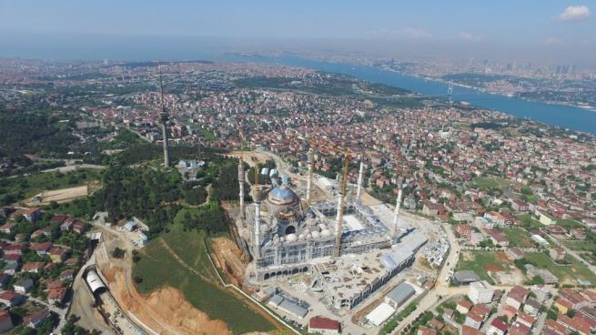 Çamlıca Cami'nde dev kubbenin beton dökme işlemi başladı 8