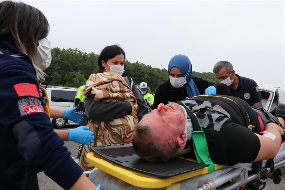 Anadolu Otoyolunda zincirleme trafik kazası: 8 yaralı 1