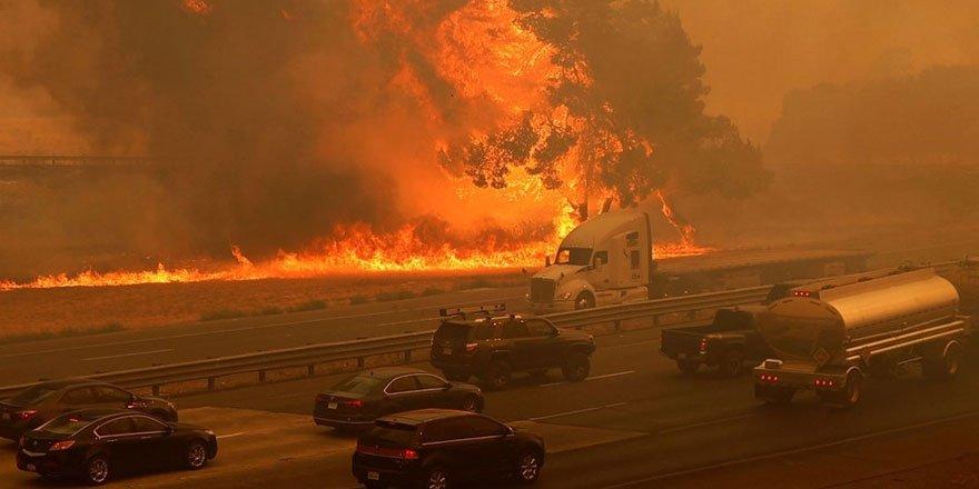 California'da 8 bin kilometrekare alan yandı, rekor kırıldı