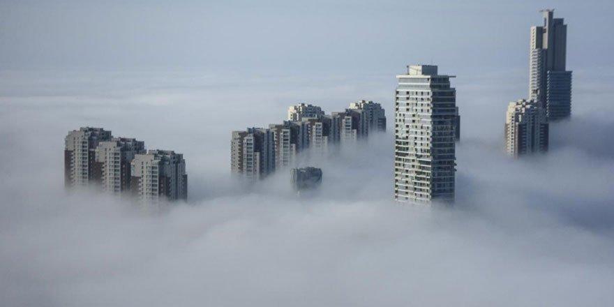 Ankara'nın yüksek kesimleri sisle kaplandı!