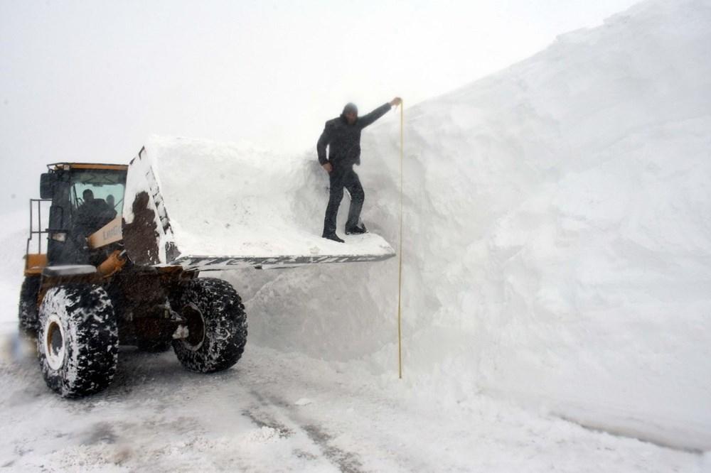 'Kar kaplanları'nın 5 metre karla mücadelesi 1