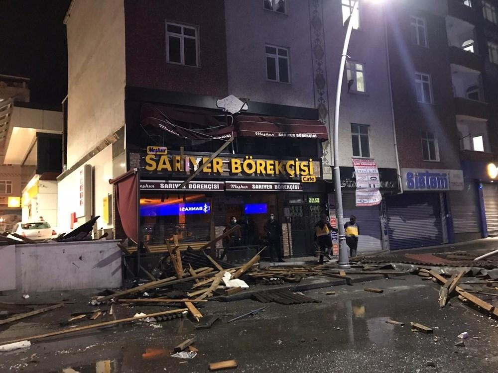 İstanbul'da fırtına etkili oldu! Çatılar uçtu, ağaçlar devrildi 1