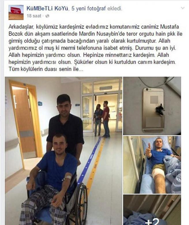 PKK kurşunundan cep telefonu korudu 7