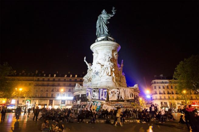 Fransa'da 'gece ayakta' eylemi 9