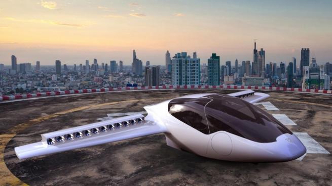 Helikopter gibi kalkış yapabilen elektrikli uçak 1