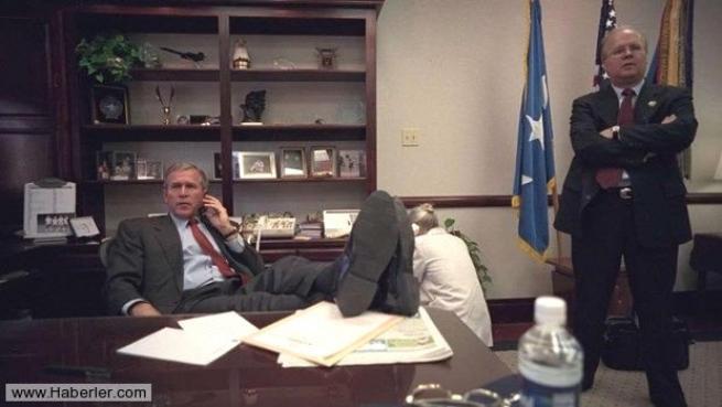 11 Eylül saldırısının hiç yayınlanmamış Bush fotoğrafları 22