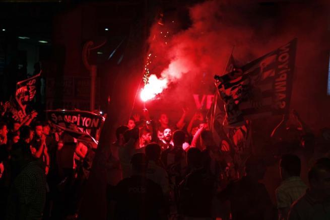 Beşiktaş şampiyonluğu böyle kutladı 4