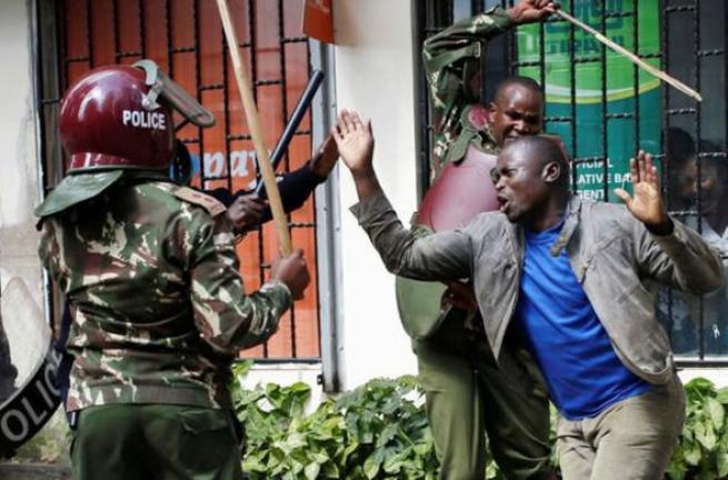 Kenya polisinden sert müdahale 3
