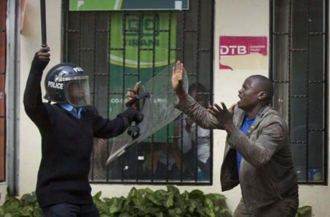 Kenya polisinden sert müdahale 4