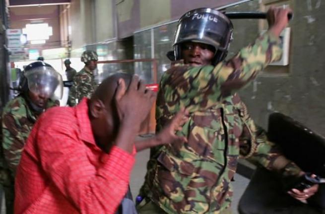 Kenya polisinden sert müdahale 5