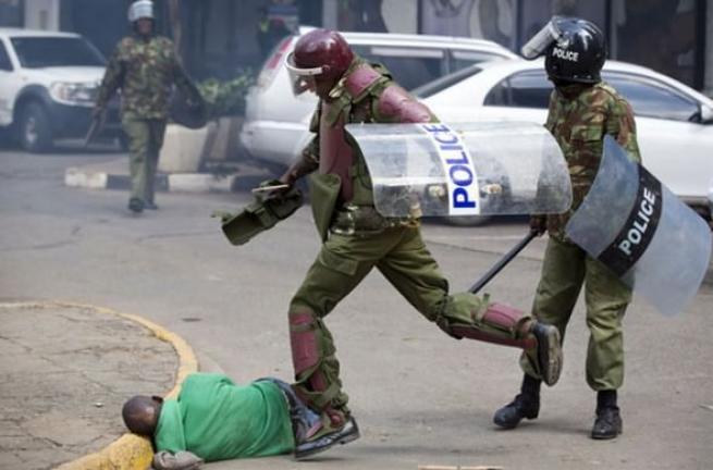 Kenya polisinden sert müdahale 6