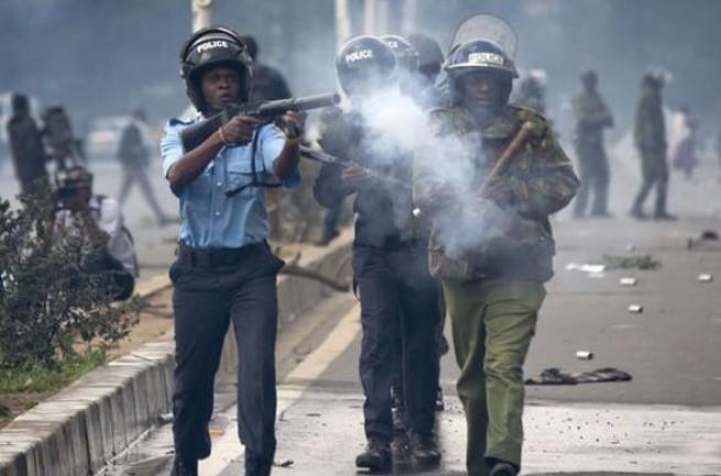 Kenya polisinden sert müdahale 9