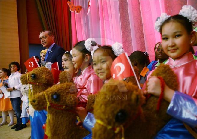 Cumhurbaşkanı Erdoğan dünya çocuklarıyla buluştu 2