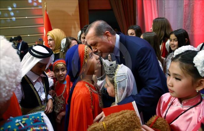 Cumhurbaşkanı Erdoğan dünya çocuklarıyla buluştu 5