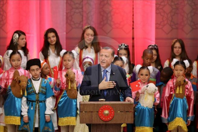 Cumhurbaşkanı Erdoğan dünya çocuklarıyla buluştu 6