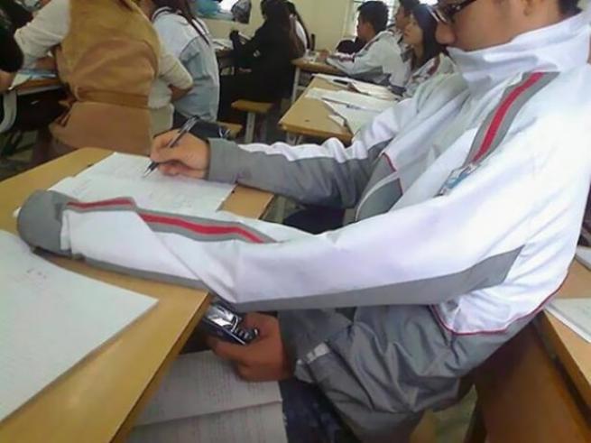 Öğrencilerin kopya ile imtihan'ı 12