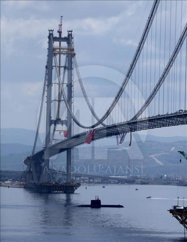 İzmit Körfez Geçişi Asma Köprüsü'nde sona doğru 1