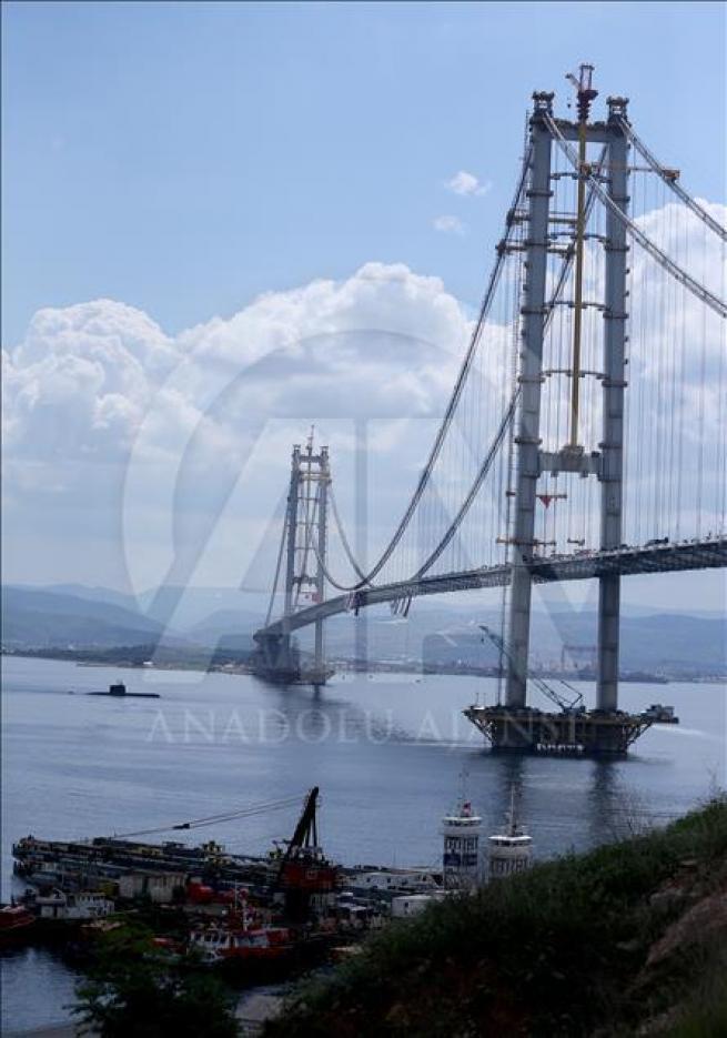İzmit Körfez Geçişi Asma Köprüsü'nde sona doğru 2