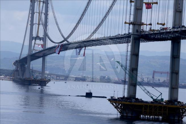 İzmit Körfez Geçişi Asma Köprüsü'nde sona doğru 5