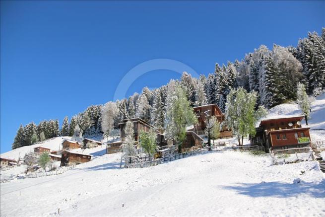 Ayder Yaylası'na kar yağdı 4