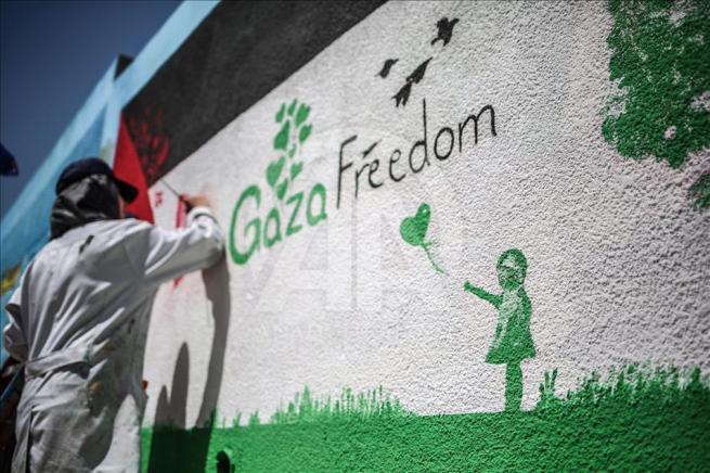 Gazze'nin duvarlarına Filistin kültürünü resmediyorlar 4