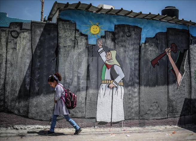 Gazze'nin duvarlarına Filistin kültürünü resmediyorlar 6