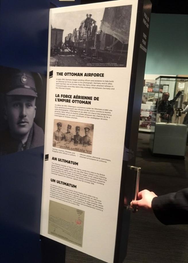 Osmanlı pilotlarının kahramanlığı Kanada'da sergileniyor 1