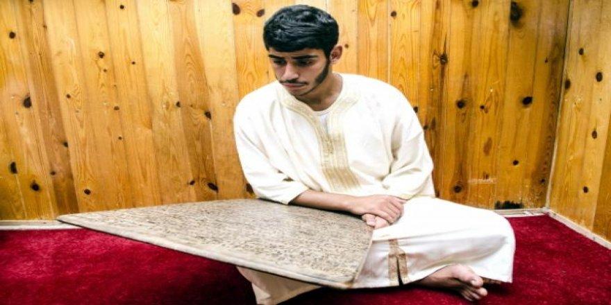 Fas'ta ahşap levhalarla Kur'an-ı Kerim hafızlığı