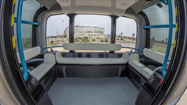 Elektrikli ve Sürücüsüz Minibüs  Olli 1