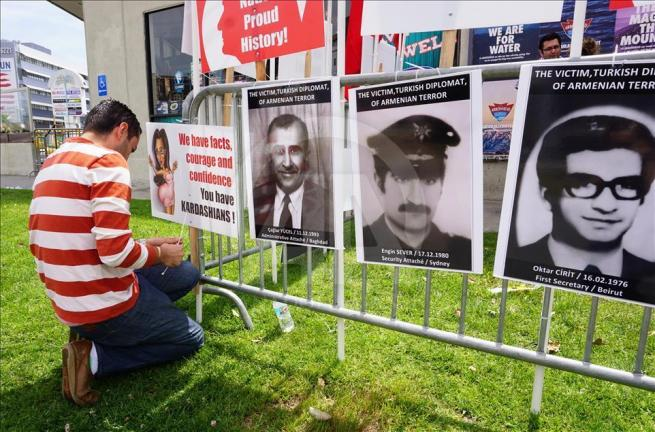Ermenilerden Los Angeles'ta protesto 1