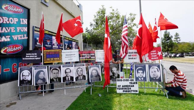 Ermenilerden Los Angeles'ta protesto 2