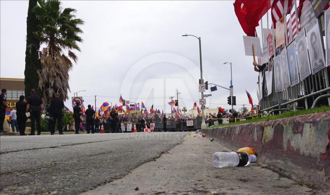 Ermenilerden Los Angeles'ta protesto 8