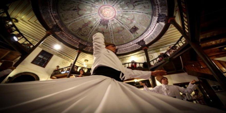 450 yıllık tekkedeki sema törenlerine Ramazan'da yoğun ilgi