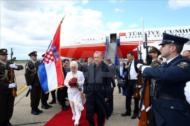 Cumhurbaşkanı Erdoğan, Hırvatistan'a geldi 4