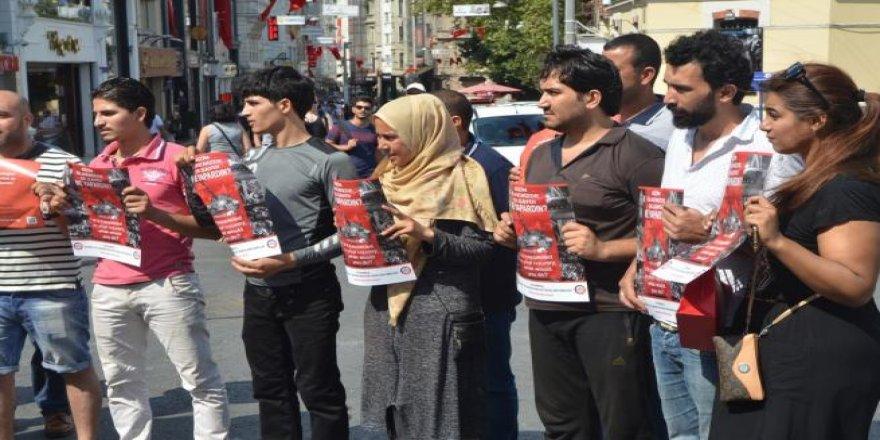 Taksim'in her tarafına bu afişlerden asıldı