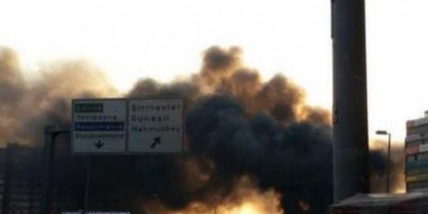 Yenibosna'da patlama! İşte ilk görüntüler
