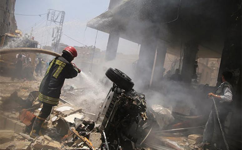 Şam'da büyük patlama: Çok sayıda ölü var!