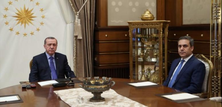 Erdoğan Hakan Fidan'la görüştü