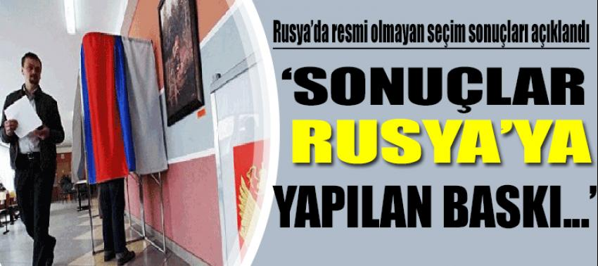 'Sonuçlar Rusya'ya yapılan baskı...'
