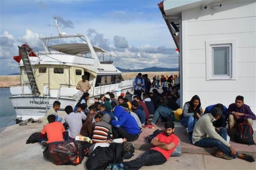 Tansu Çiller'in eski yatıyla kaçak göçmenleri taşımışlar