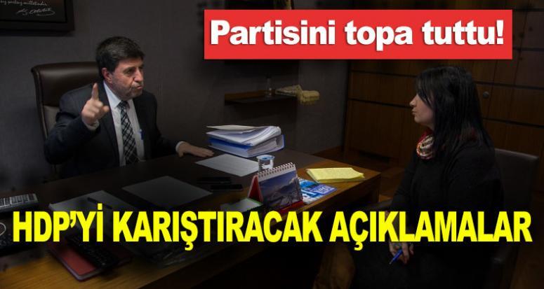 HDP'li Altan Tan partisini topa tuttu!