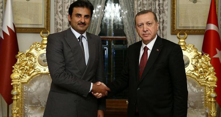 Cumhurbaşkanı Erdoğan, Katar Emiri ile bir araya geldi