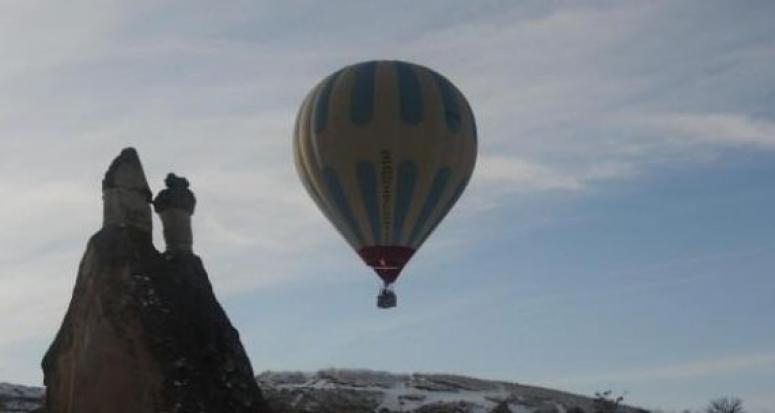 Kapadokya'da balonlara hava muhalefeti