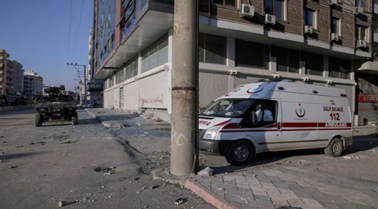 Cizre'de sağlık ekipleri seferber oldu